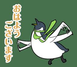 Gentleman Penguin Nietzsche sticker #2982394