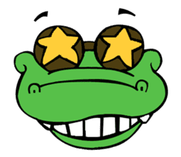 Oyob the Crocodile sticker #2982599