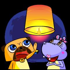 Puggy&Tina : Let's celebrate.