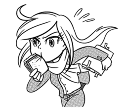 Sachiko Life Manga sticker #2986853