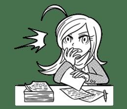 Sachiko Life Manga sticker #2986861