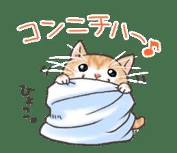 Cat in towel sticker #2996005