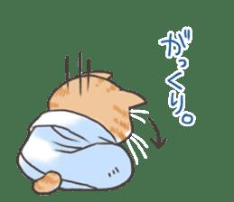 Cat in towel sticker #2996008