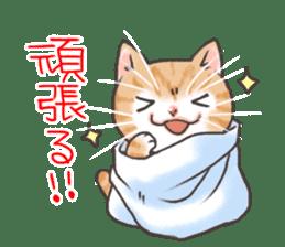 Cat in towel sticker #2996012