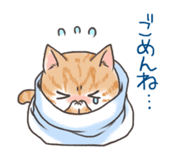 Cat in towel sticker #2996014