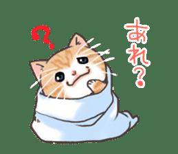 Cat in towel sticker #2996016