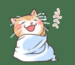 Cat in towel sticker #2996019