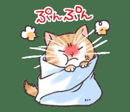 Cat in towel sticker #2996020