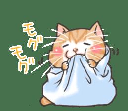 Cat in towel sticker #2996022