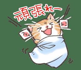 Cat in towel sticker #2996024