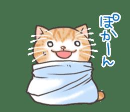 Cat in towel sticker #2996025