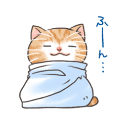 Cat in towel sticker #2996026