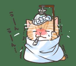 Cat in towel sticker #2996027
