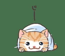 Cat in towel sticker #2996030