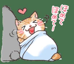 Cat in towel sticker #2996035