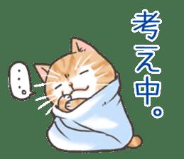 Cat in towel sticker #2996038