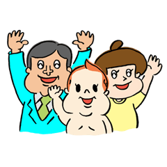 family with a smile