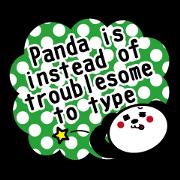 สติ๊กเกอร์ไลน์ Panda is instead of troublesome to type.