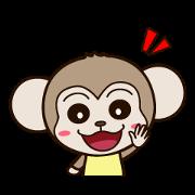 สติ๊กเกอร์ไลน์ MonkeyQ