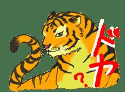 i am higth pride tiger sticker #3009732