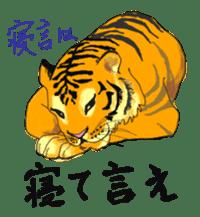 i am higth pride tiger sticker #3009757