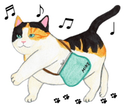 Calico cat's Diary sticker #3012051