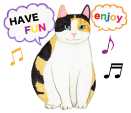 Calico cat's Diary sticker #3012077