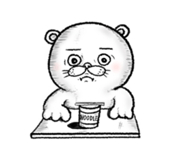 The hikikomori bear sticker #3013628