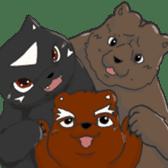 My favarite three bears sticker #3014211