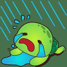 Pura, the funny turtle, version 2 sticker #3014691