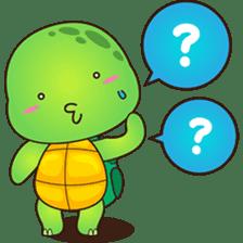 Pura, the funny turtle, version 2 sticker #3014693