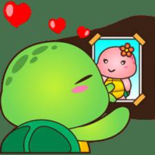 Pura, the funny turtle, version 2 sticker #3014694
