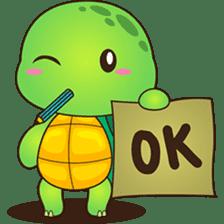 Pura, the funny turtle, version 2 sticker #3014696