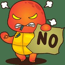 Pura, the funny turtle, version 2 sticker #3014697