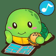 Pura, the funny turtle, version 2 sticker #3014699
