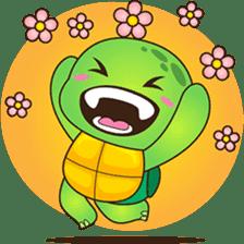 Pura, the funny turtle, version 2 sticker #3014702