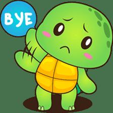 Pura, the funny turtle, version 2 sticker #3014703