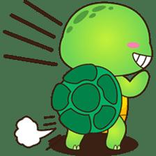 Pura, the funny turtle, version 2 sticker #3014705