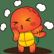 Pura, the funny turtle, version 2 sticker #3014708