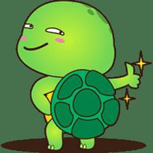 Pura, the funny turtle, version 2 sticker #3014709