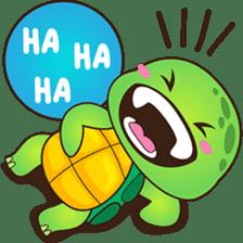 Pura, the funny turtle, version 2 sticker #3014711