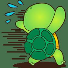 Pura, the funny turtle, version 2 sticker #3014713