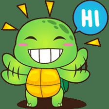 Pura, the funny turtle, version 2 sticker #3014720