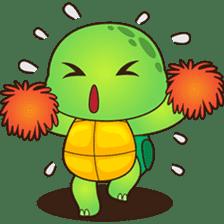 Pura, the funny turtle, version 2 sticker #3014723
