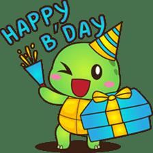 Pura, the funny turtle, version 2 sticker #3014724