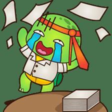 Pura, the funny turtle, version 2 sticker #3014725