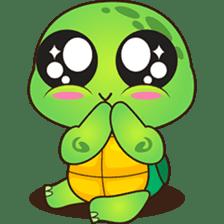 Pura, the funny turtle, version 2 sticker #3014727