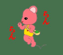 Kawaii PINK  BEAR sticker #3017217
