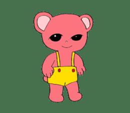 Kawaii PINK  BEAR sticker #3017219