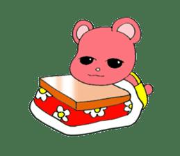 Kawaii PINK  BEAR sticker #3017221